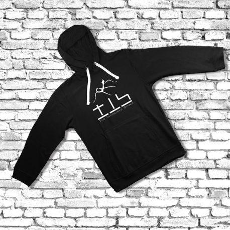 Hoodie-black-no-zip-flat-cord