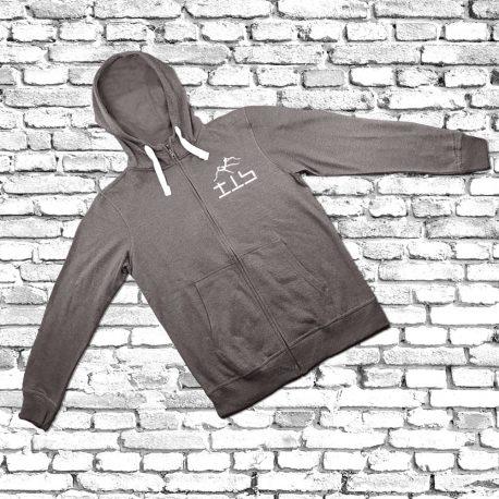 Hoodie-grey-Zipper-white-cord