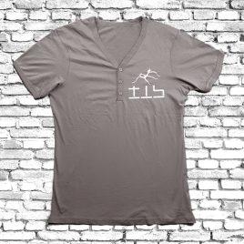 T-SHIRT mit Knopfleiste (Grey) – TIS Logo