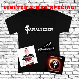PARALYZZER – X-mas special! – 1 T-Shirt & 2 CD'S & 2 Sticker