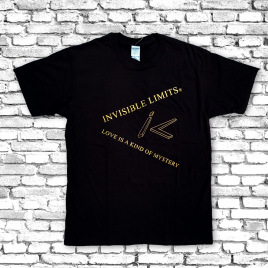 """INVISIBLE LIMITS – T-Shirt """"Love is a kind of mystery"""" Gold Edition"""